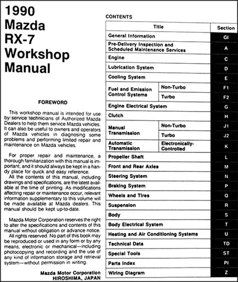 auto repair manual free download 1990 mazda rx 7 regenerative braking 1990 mazda rx 7 repair shop manual original