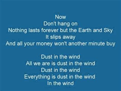 kansas dust in the wind wow what a kansas dust in the wind lyrics youtube