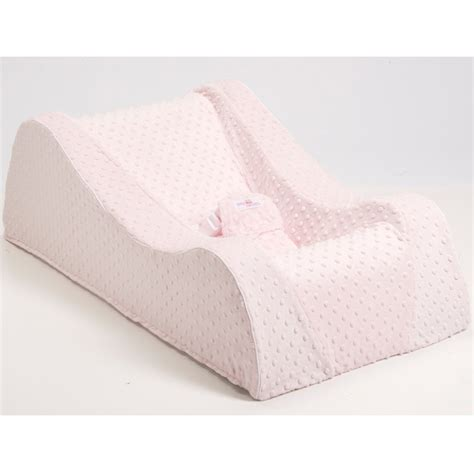 Nap Nanny Baby Recliner by Nap Nanny Chill Portable Recliner In Minky Pink