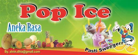 spanduk pop ice contoh desain spanduk