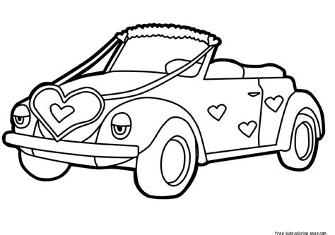 cars valentines coloring pages printable car decorations with hearts valentines day