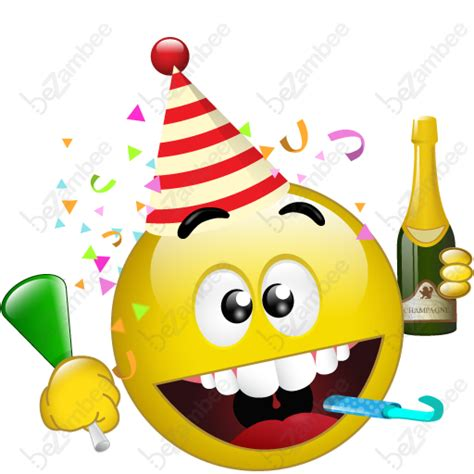 10 party smiley emoticon images party smiley face