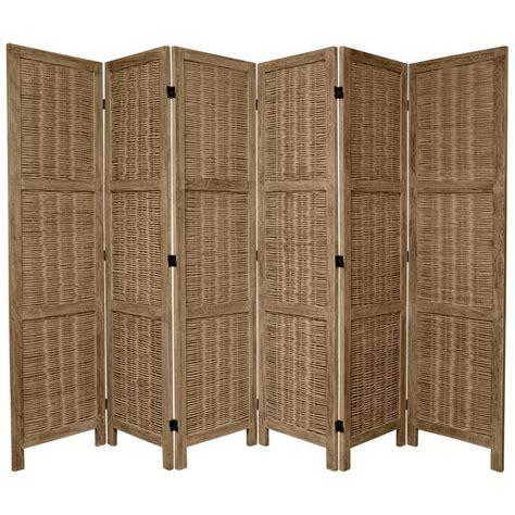Grey Room Divider Furniture 6 Ft Burnt Grey Matchstick 6 Panel