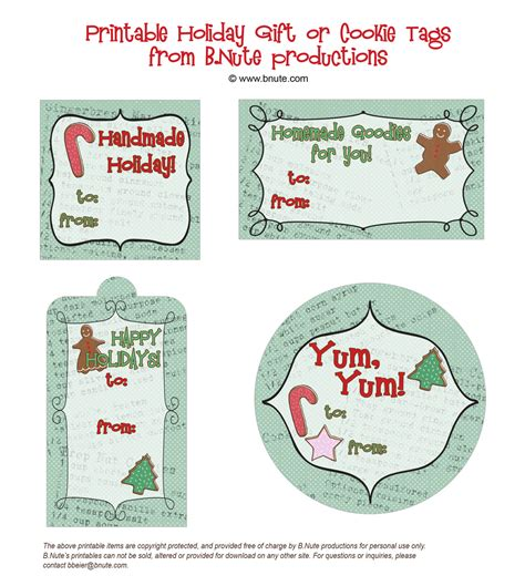 6 best images of printable christmas gift tags martha