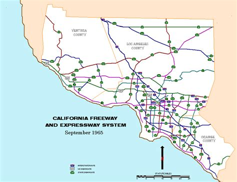 map of los angeles with freeways 10 freeway map california images