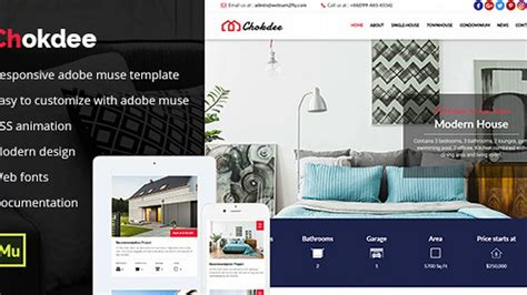 Chokdee Responsive Real Estate Muse Template Themeforest Website Templates And Themes Youtube Muse Real Estate Template