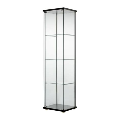 Ikea Detolf Glass Curio Display Cabinet Light Brown Detolf Glass Door Cabinet Black Brown 43x163 Cm Ikea