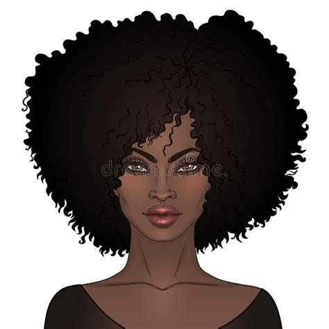 afro hairstyles vector african american pretty girl vector illustration of black