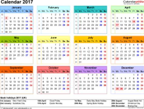 Kalender 2017 Pedia Calendar 2017 Uk 16 Free Printable Word Templates