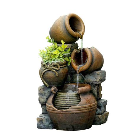 Rental Home Decorating Ideas fountain cellar multi pots outdoor water fountain with