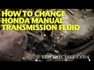 98 Honda Civic Manual Transmission Fluid How To Change Honda Manual Transmission Fluid