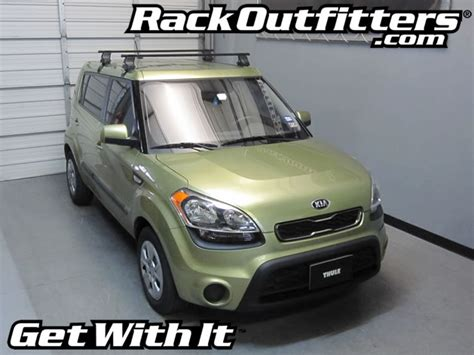Kia Soul Roof Bars Kia Soul Thule Traverse Square Bar Roof Rack 10 14