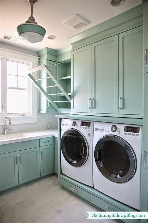 laundry room ideas built in drying rack and pull out