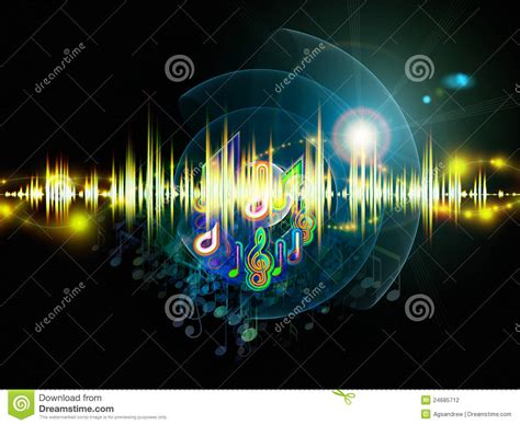 music lights stock illustration illustration of line