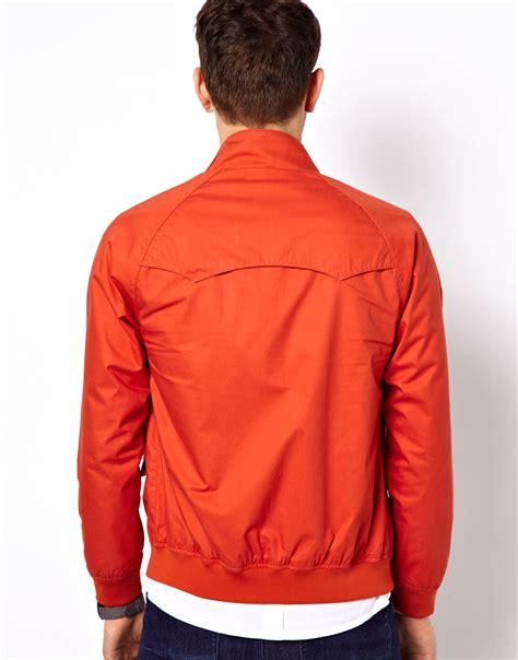 Jaket Harrington Jaket Taslan Parka Jaket Bomber Cewek Wanita Army lyst ben sherman harrington bomber jacket in orange for