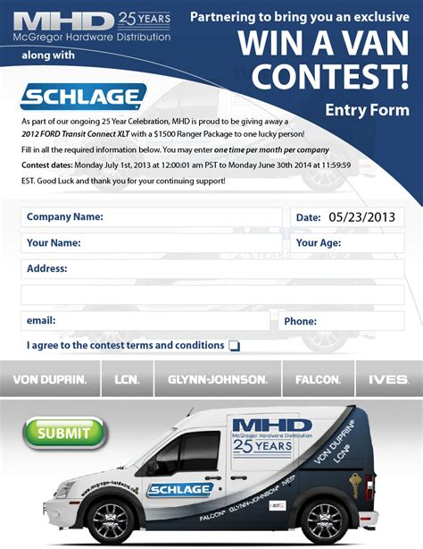 Van Giveaway - branding website design contesting gamification