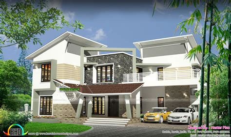 home design 50 50 50 lakhs contemporary home kerala home design and floor