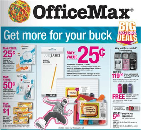 Officemax Ad Officemax Ad Coupon Deals 9 9