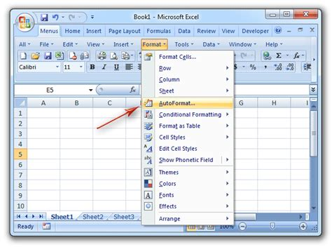 Auto Format Excel 2007 | letak menu format pada ms word 2007 cover letter templates