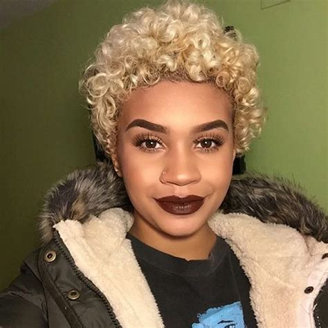 black lady with short natural platinum hair 569 best summer cuts short natural hair images on
