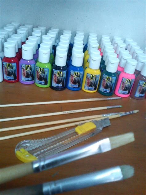 Cat Untuk Melukis Sepatu Kanvas mm craft seni lukis kain seni lukis kain kursus lukis