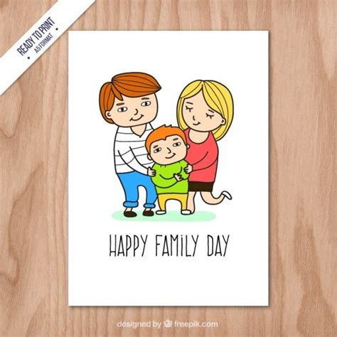 happy family cards templates happy family day card vector free