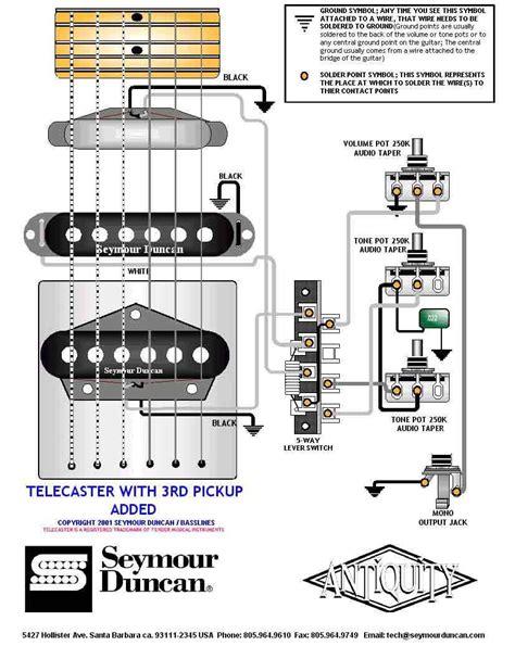 tele wiring diagram    pickup added