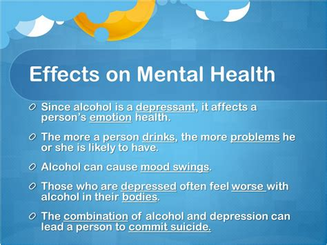 alcohol mood swings lesson 3 long term effects of alcohol use ppt video