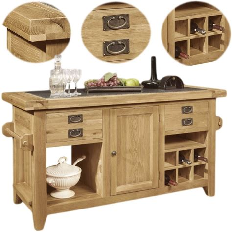 oak kitchen island units panama solid rustic oak kitchen island unit