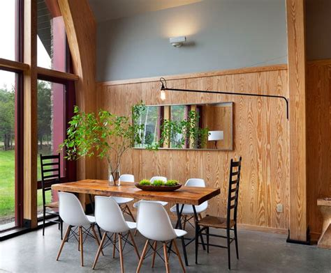 Dining Room Wood Paneling by Modern Wood Paneling Dining Rooms Breakfast Nooks