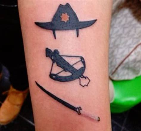 walking dead tattoo the walking dead ideas cool tattoos inspired by