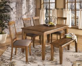 Dining Room Tables With Benches And Chairs by Black Distressed Wooden Dining Table With Single Bench