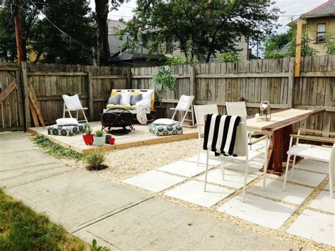 concrete backyard makeover diy budget backyard and deck makeover hometalk