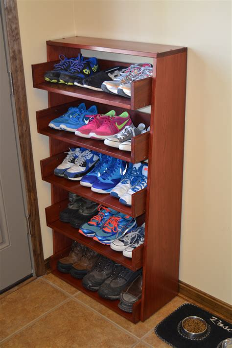reclaimed wood shoe rack project page