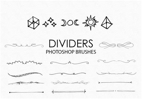 free hand drawn dividers photoshop brushes free