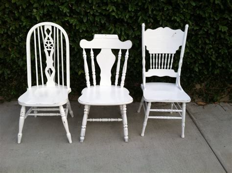 mismatch dining chairs set of 3 white shabby chic cottage chic white spindle chairs mix and
