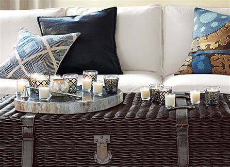 how to decorate a coffee table how to decorate a coffee table pottery barn