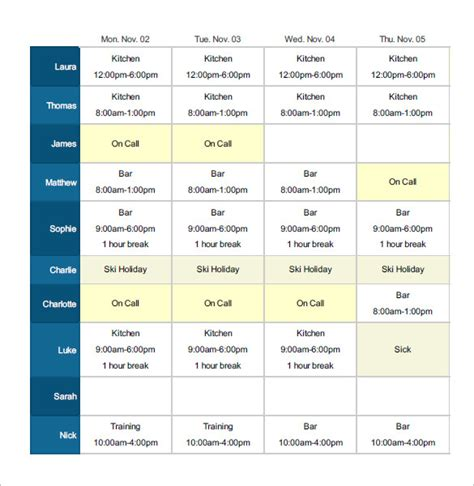 employee shift schedule template employee shift schedule template 12 free word excel