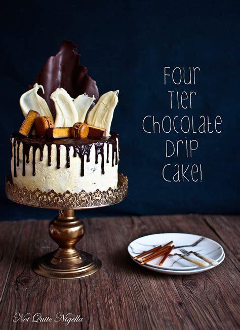 chocolate ganache drip cake    nigella