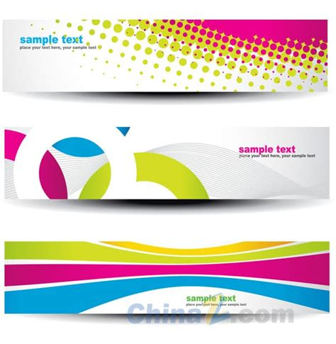 bright creative banners vector templates over millions
