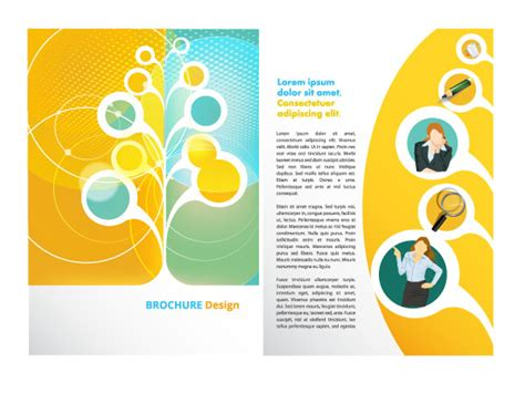 illustrator brochure templates free vector brochure