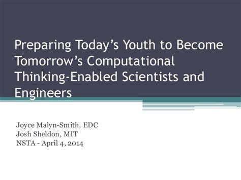the next generation preparing today s for an extraordinary future books computational thinking in the workforce and next