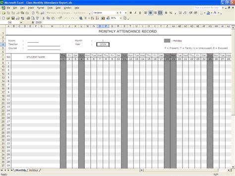 6 attendance sheet template procedure template sample
