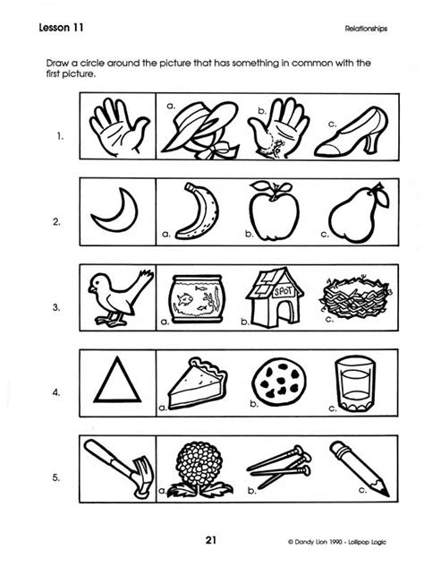 Critical Thinking Analogies Worksheet by Lollipop Logic Critical Thinking Activities