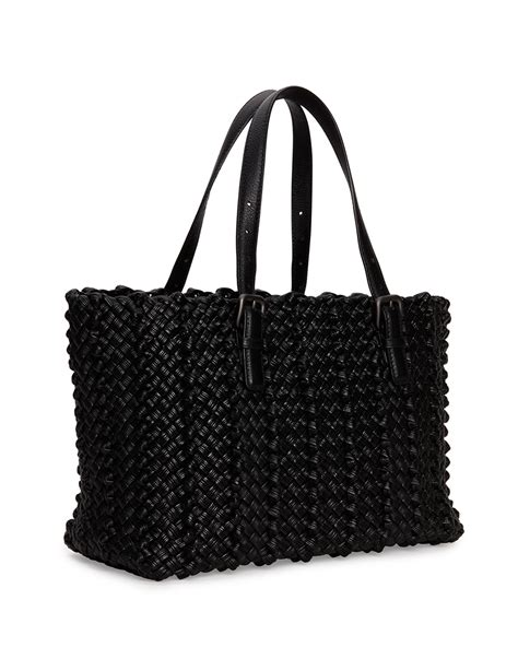 Bottega Veneta Deerskin Woven Tote by Bottega Veneta Lido Medium Woven Tote Bag In Black Lyst