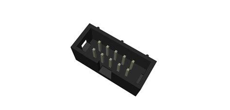 Header Idc Bengkok 2x5 Murah 10 2x5 pin idc header shrouded stl 3d cad model grabcad