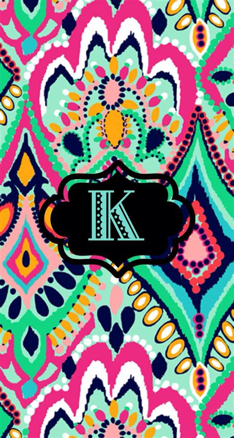 Letter K Wallpaper k monogram wallpaper by kyla r lilypulitzer