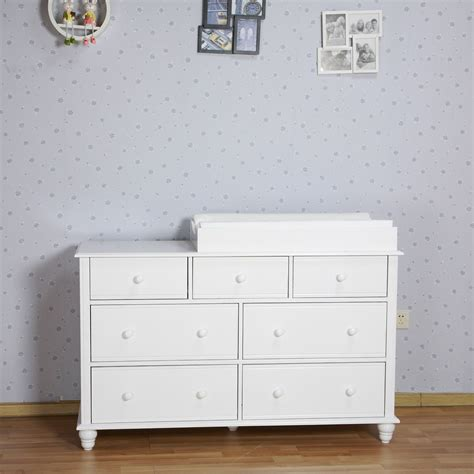 Baby Changing Tables With Drawers Nz Pine Baby Change Table 7 Chest Of Drawers Dresser Free Change Pad White Ebay