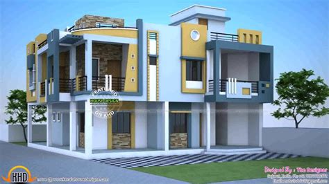 duplex house exterior design pictures  india youtube