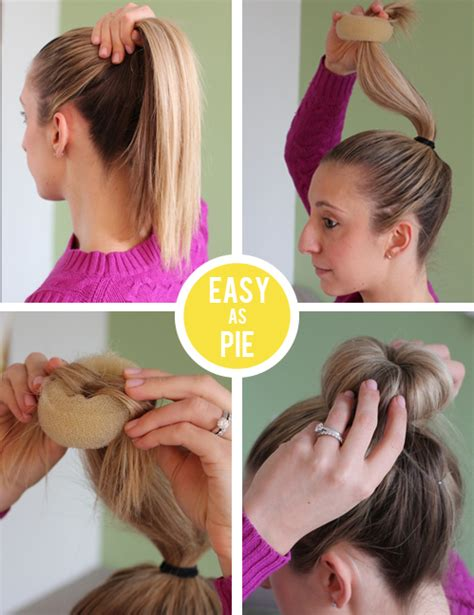 hair styles using a donut how to make the perfect donut bun lemon stripes